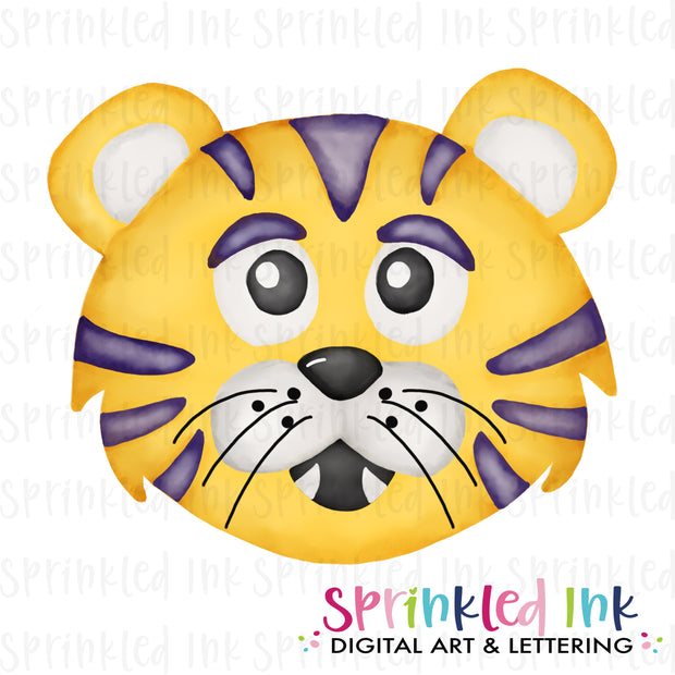 Watercolor PNG |MASCOT| Yellow and Gold Tiger Boy Download File