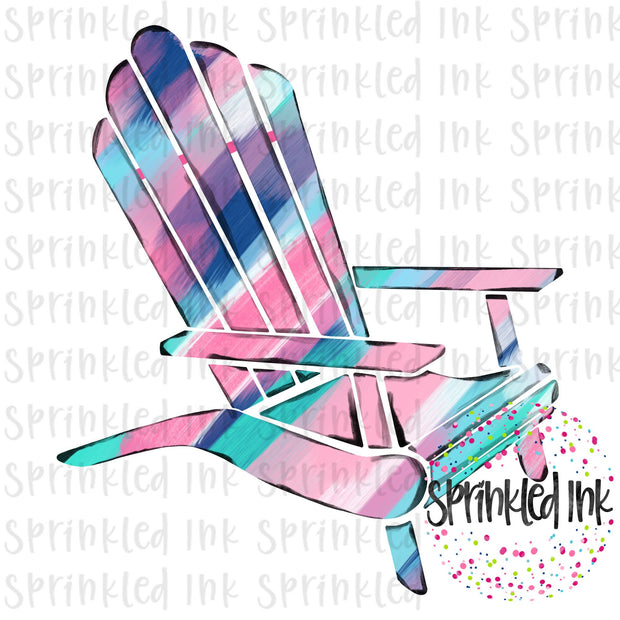 Watercolor PNG LP Abstract Painted Beach Chair Download File - Sprinkled Ink Digital Designs