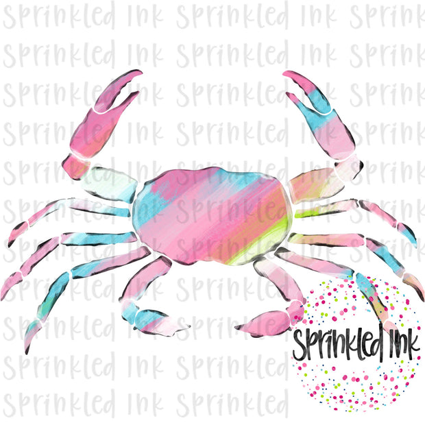 Watercolor PNG LP Abstract Painted Crab Download File - Sprinkled Ink Digital Designs