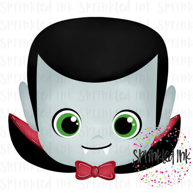 Watercolor PNG Halloween Dracula Digital Download File - Sprinkled Ink Digital Designs