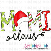 Watercolor PNG Santa Hat Mimi Claus Download File - Sprinkled Ink Digital Designs