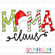 Watercolor PNG Santa Hat Mama Claus Download File - Sprinkled Ink Digital Designs