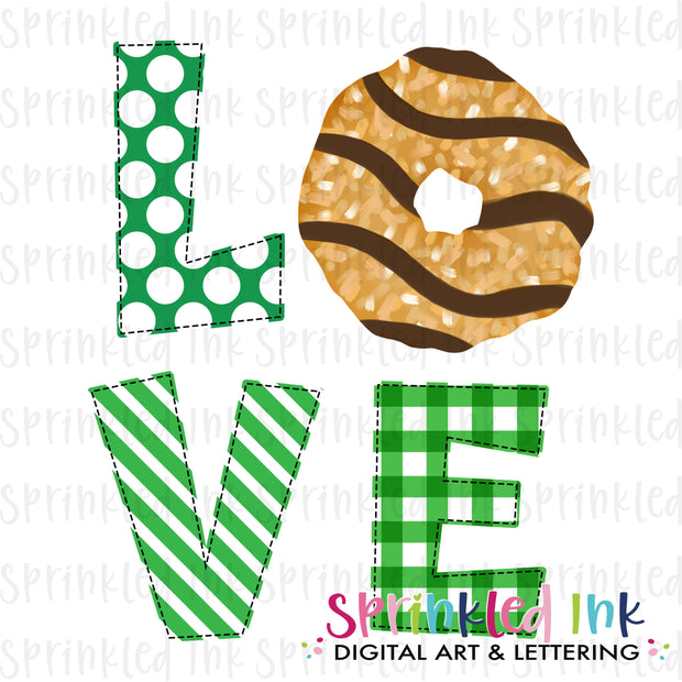 Watercolor PNG Girl Scouts Coconut Carmel Cookie LOVE Download File - Sprinkled Ink Digital Designs