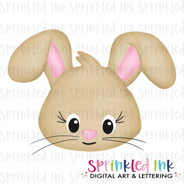 Watercolor PNG Easter Bunny Girl  Download File - Sprinkled Ink Digital Designs