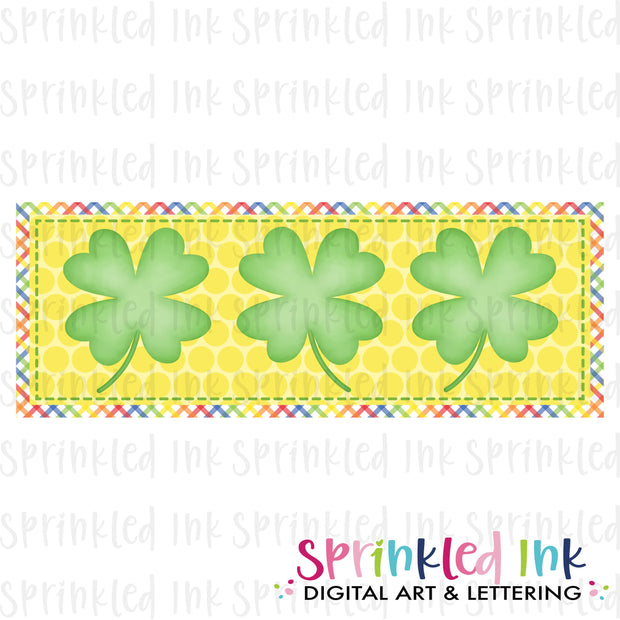 Watercolor PNG Yellow and Green Shamrock Tio Download File - Sprinkled Ink Digital Designs