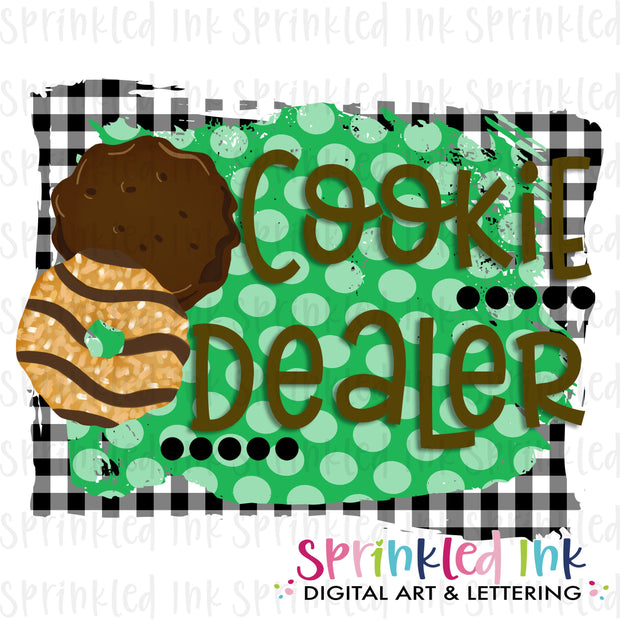 Watercolor PNG Girl Scouts Cookie Dealer Download File - Sprinkled Ink Digital Designs