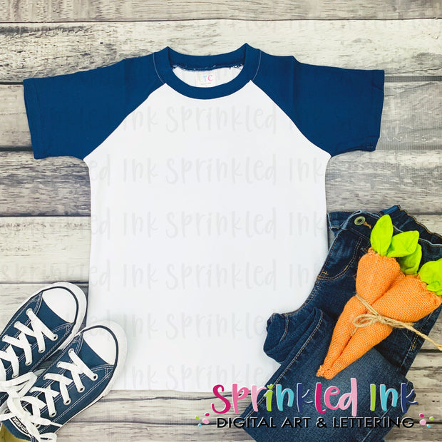 Flat Lay Mockup Youth Raglan Short Sleeve LTC Easter Heat Transfer Sublimation INSTANT DOWNLOAD - Sprinkled Ink Digital Designs
