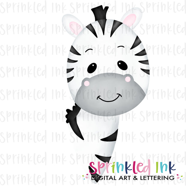 Watercolor PNG Zebra Face Download File - Sprinkled Ink Digital Designs