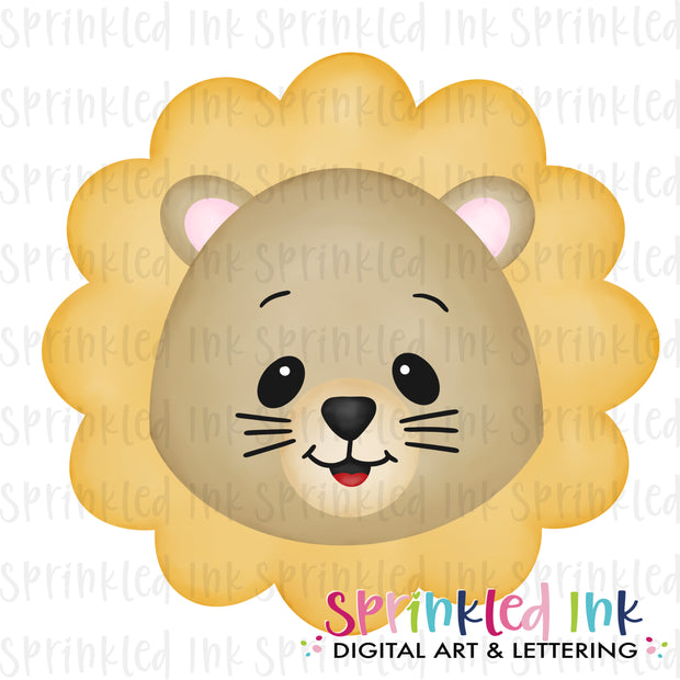 Watercolor PNG Lion Face Download File - Sprinkled Ink Digital Designs