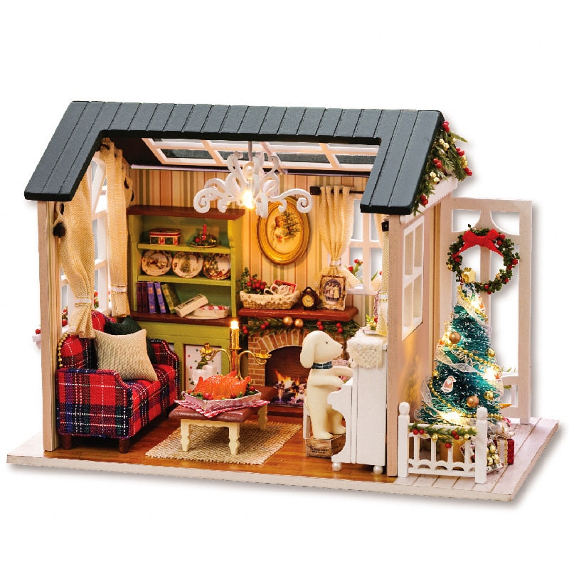 Christmas Forest Hut DIY