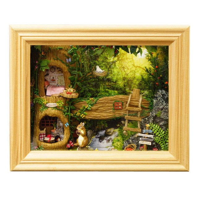 tree house picture frame diy