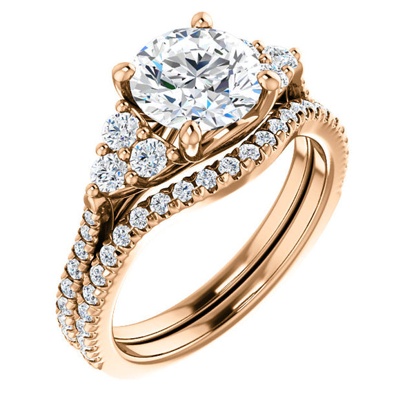 14K Rose Gold French-Set Engagement Ring