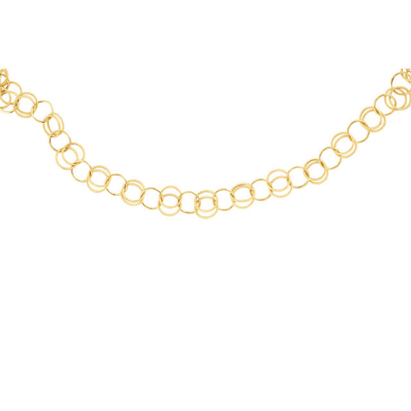 14K Yellow Fancy Link Chain
