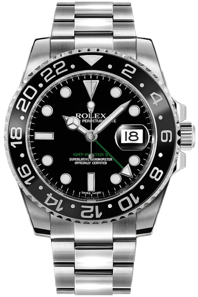 2007 Rolex GMT-Master II Stainless Black Ceramic 116710 N LN 40mm Date Watch