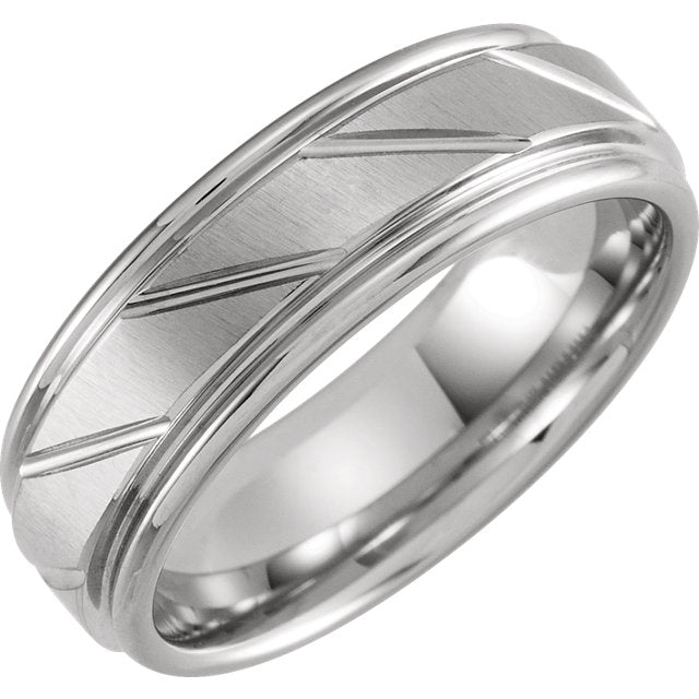 Tungsten Grooved Band