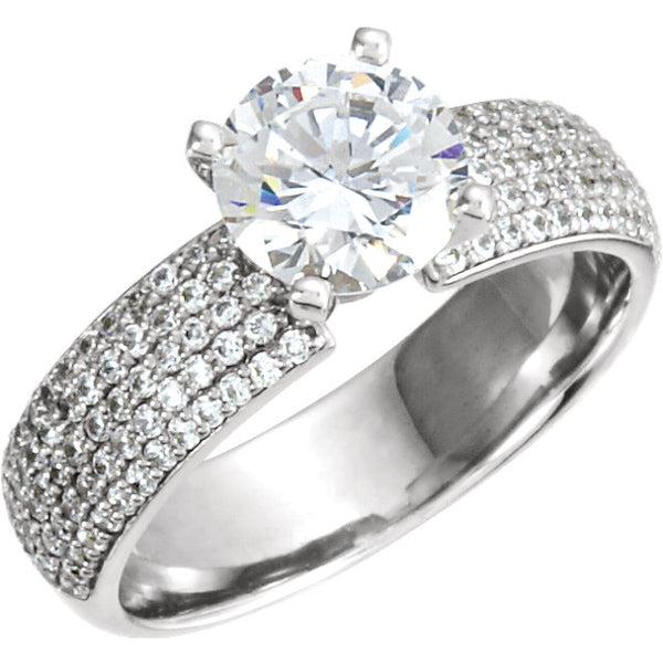 14K Diamond Accented Engagement Ring