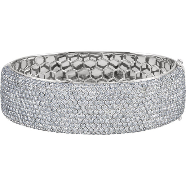18k white gold Pavé Bangle Bracelet