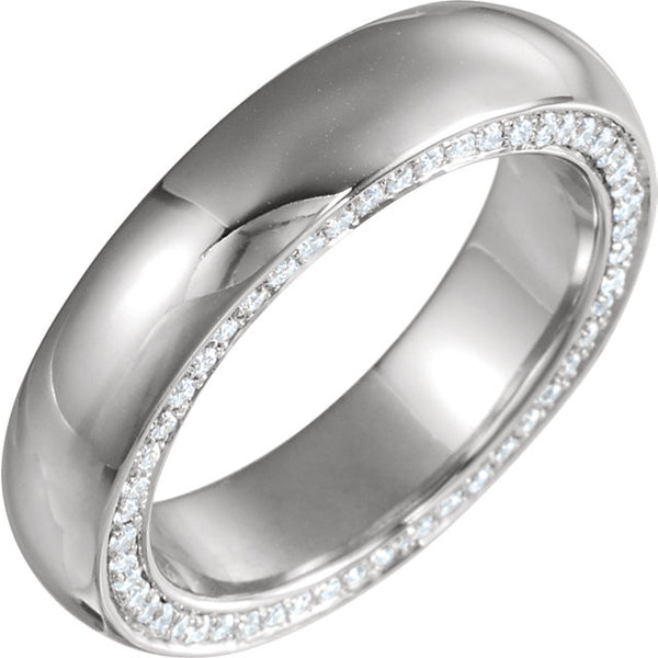 14K White Gold  1/2 CTW Diamond Accented Band