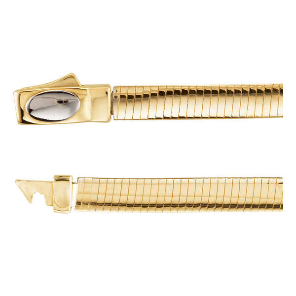 14K Yellow & White 4 mm Two-Tone Reversible Omega Chain