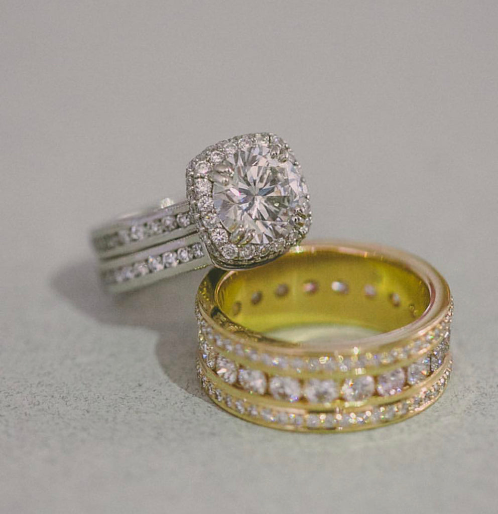 Custom Engagement Ring and Wedding Bands