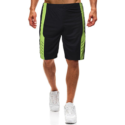 Simple Men's Casual Splice Middle Elastic Waist Outdoor Shorts by FavStuffs - FavStuffs