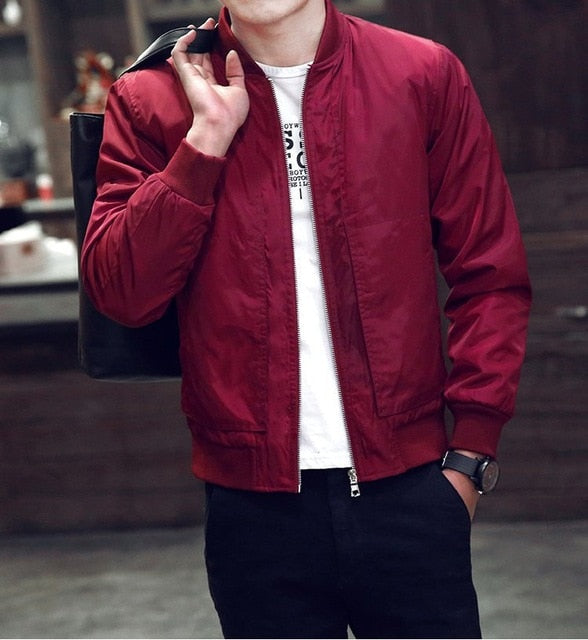 Favstuffs Men's Spring / Autumn Slim Fit Bomber Jacket - FavStuffs