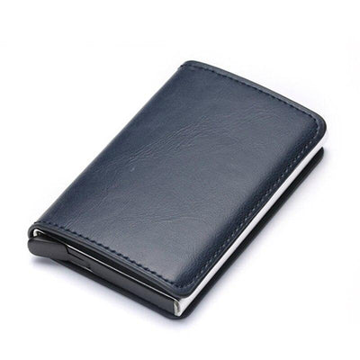 Men's Leather Credit Card Holder Wallet with Metal RFID Feature by FavStuffs - FavStuffs