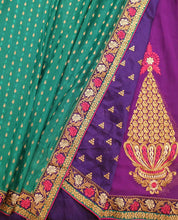 Load image into Gallery viewer, Green Brocade Saree