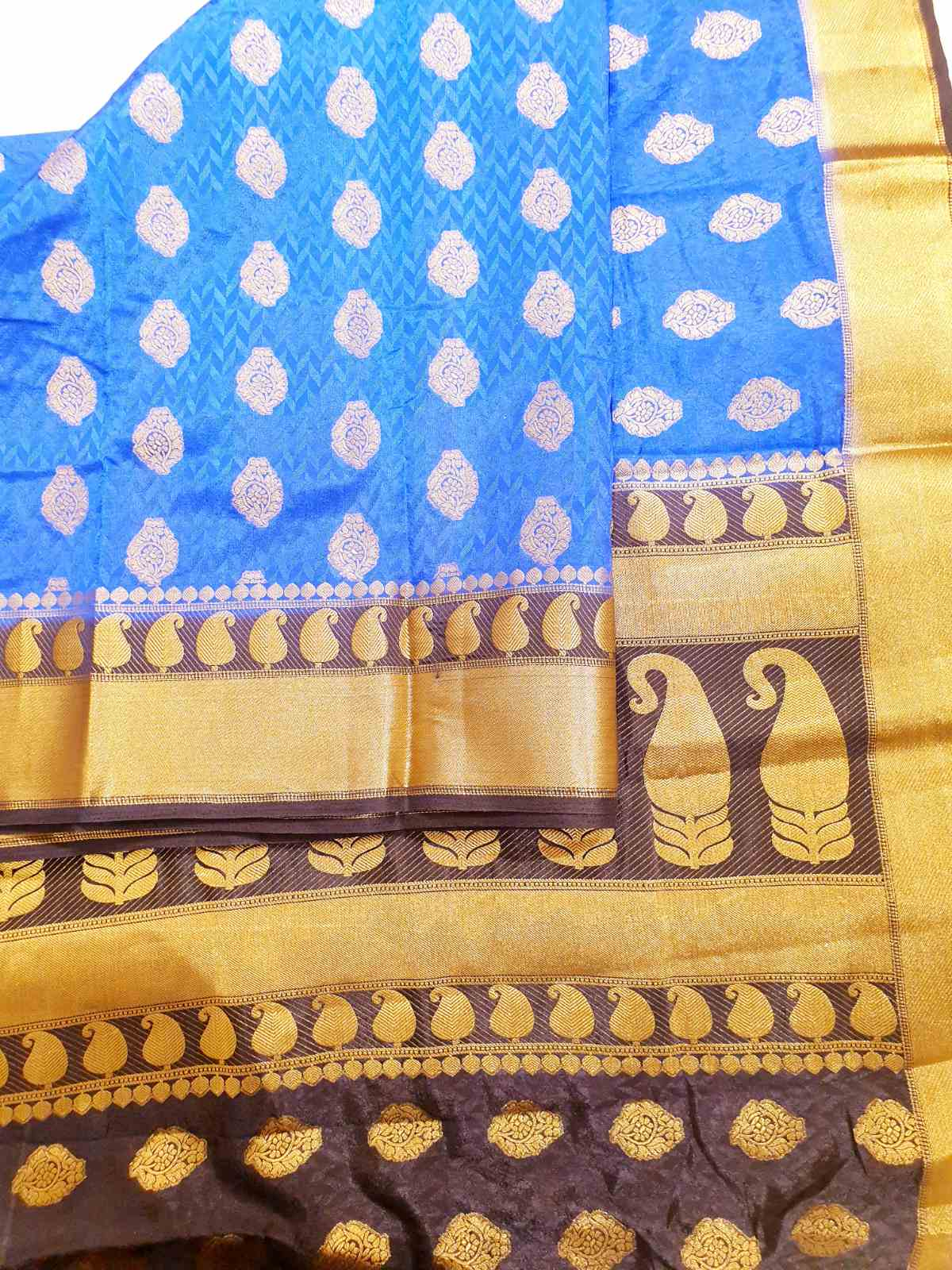 Black & Blue Silk Saree