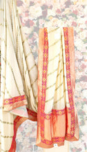 Load image into Gallery viewer, Peach & Cream Silk Saree