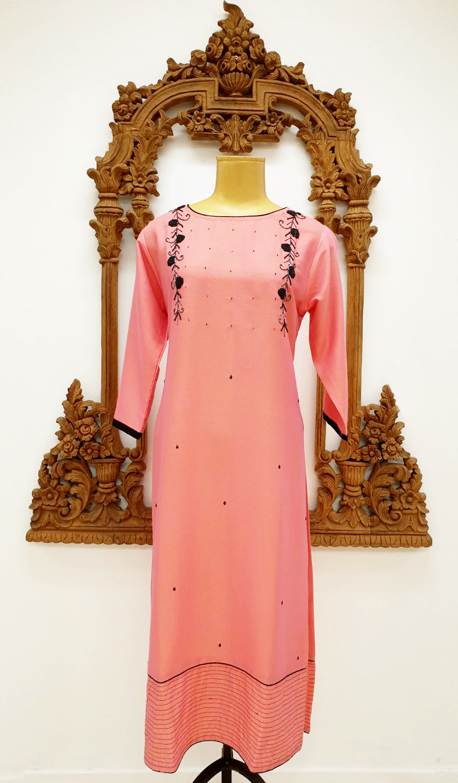 Pink Embroidered Kurti