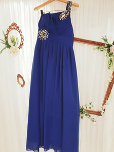 Ink Blue Chiffon Dress