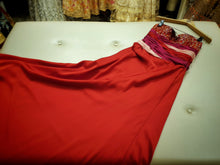 Load image into Gallery viewer, Red satin evening dress
