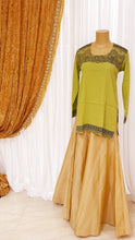 Load image into Gallery viewer, Lime Green Printed Kurti