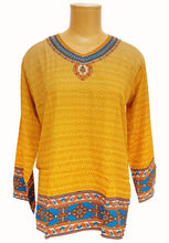Load image into Gallery viewer, Mustard Printed Kurti
