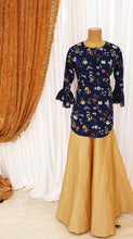 Load image into Gallery viewer, Navy Floral Printed Kurti