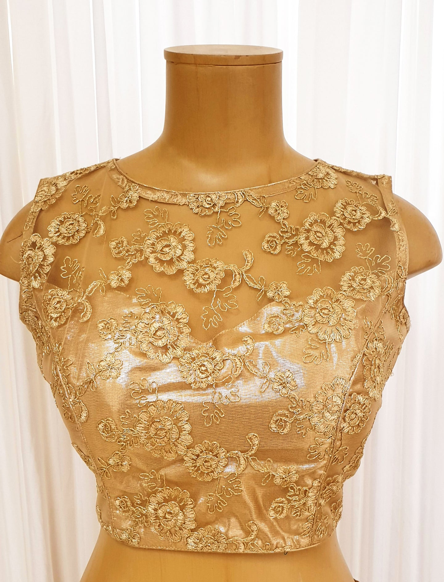 Gold Lacey Saree Blouse