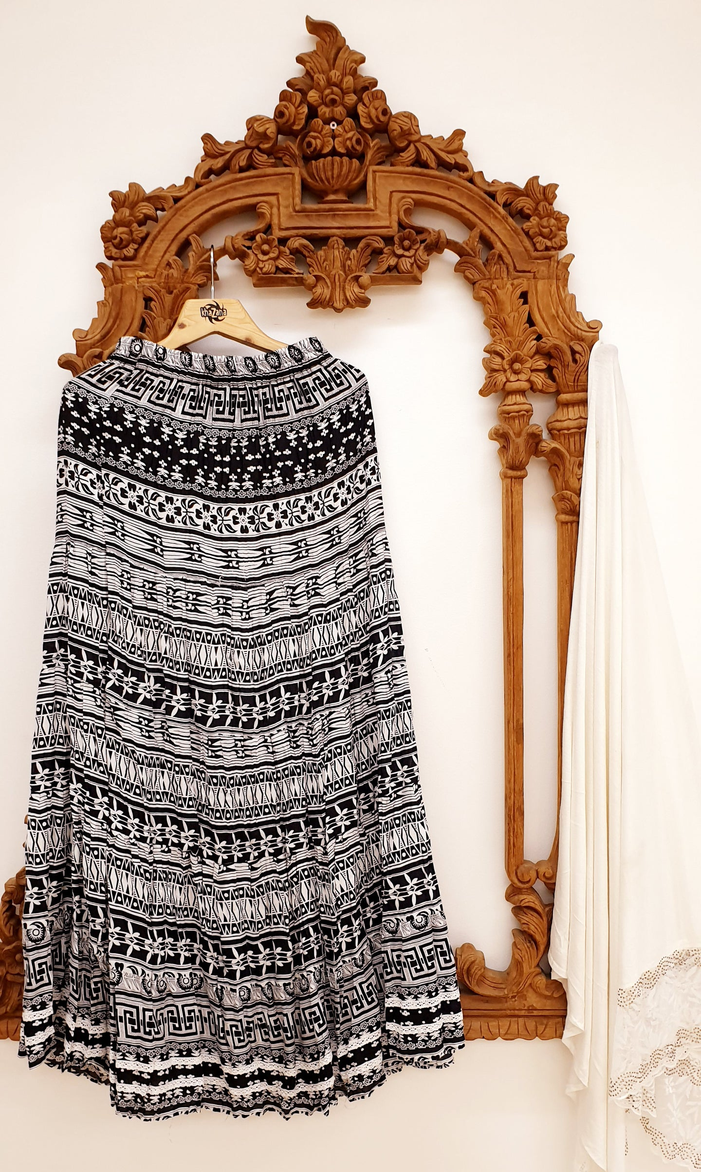 Black & White Tribal Print Skirt