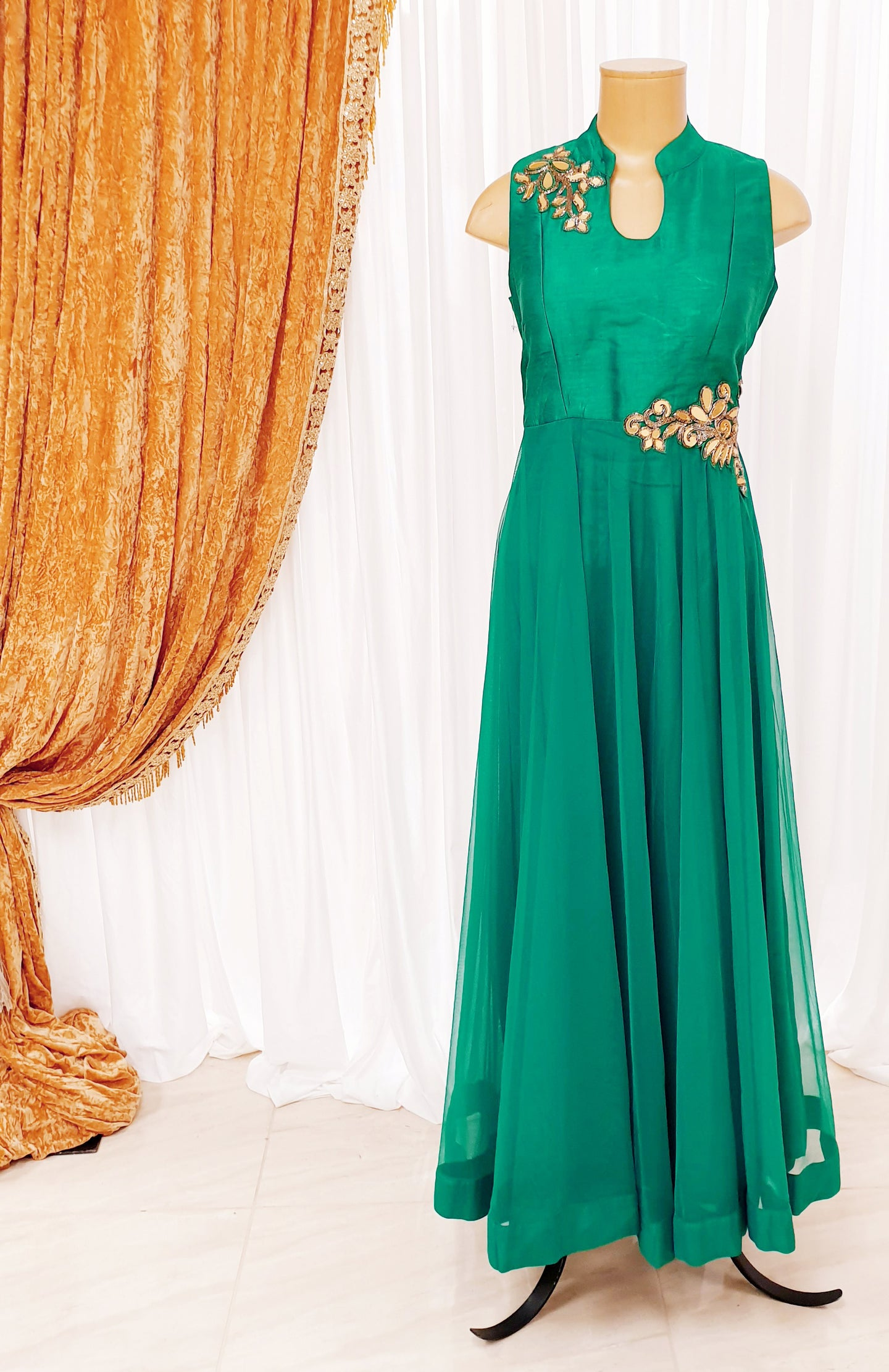 Emerald Green Long Gown