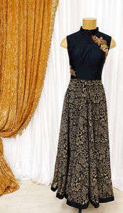 Black & Beige Gown