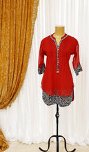 Load image into Gallery viewer, Red Georgette Kurti