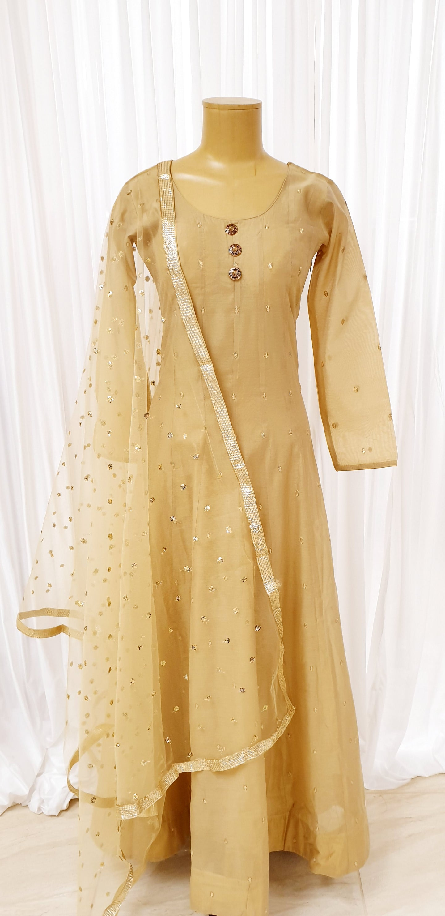 Gold Sequin Dupatta