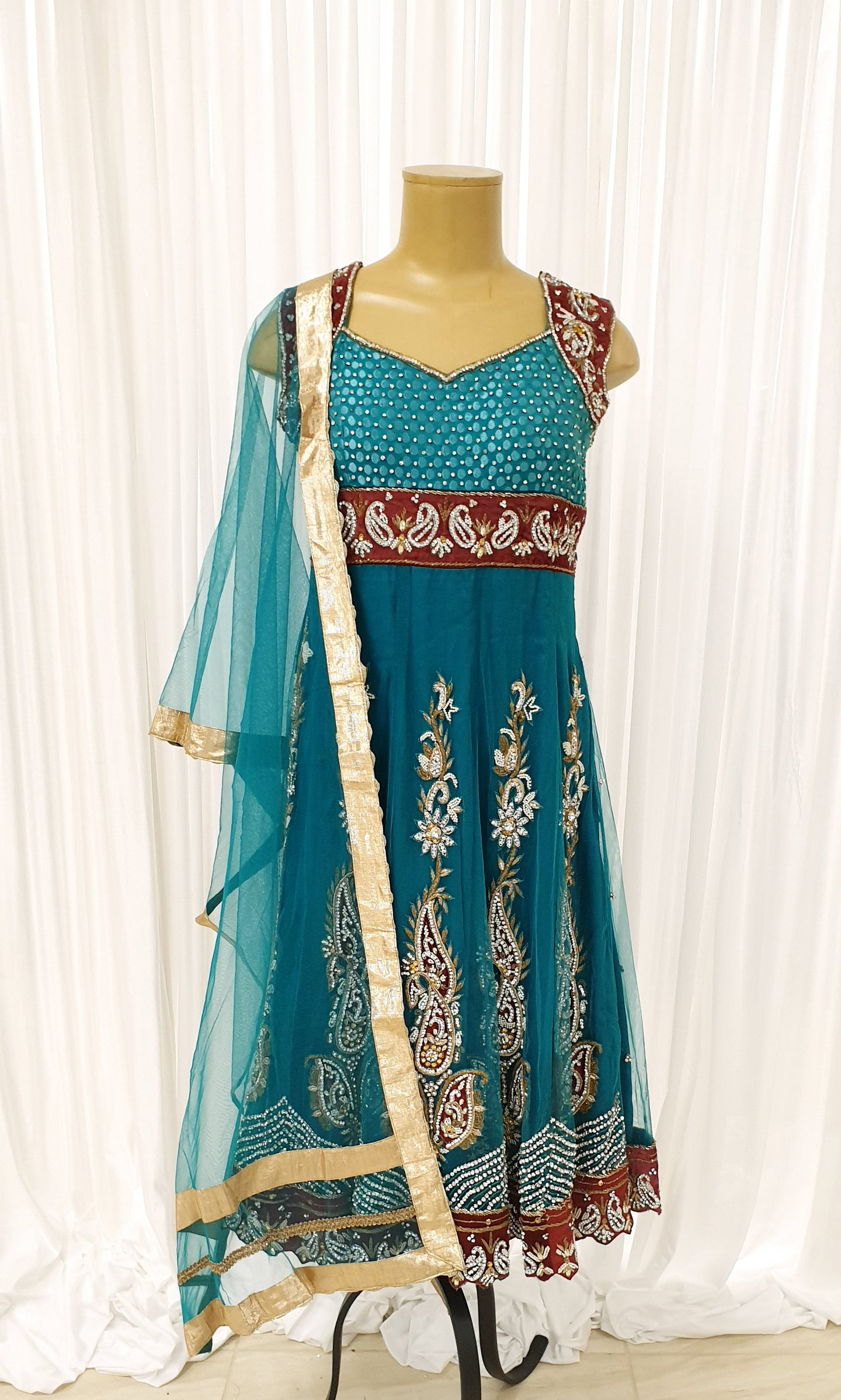 Teal Flair Kameez