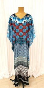 Blue Printed Kaftan