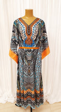 Load image into Gallery viewer, Black & Blue Printed Kaftan