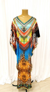 Multi Colour Printed Kaftan