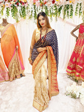 Load image into Gallery viewer, Navy Georgette Saree