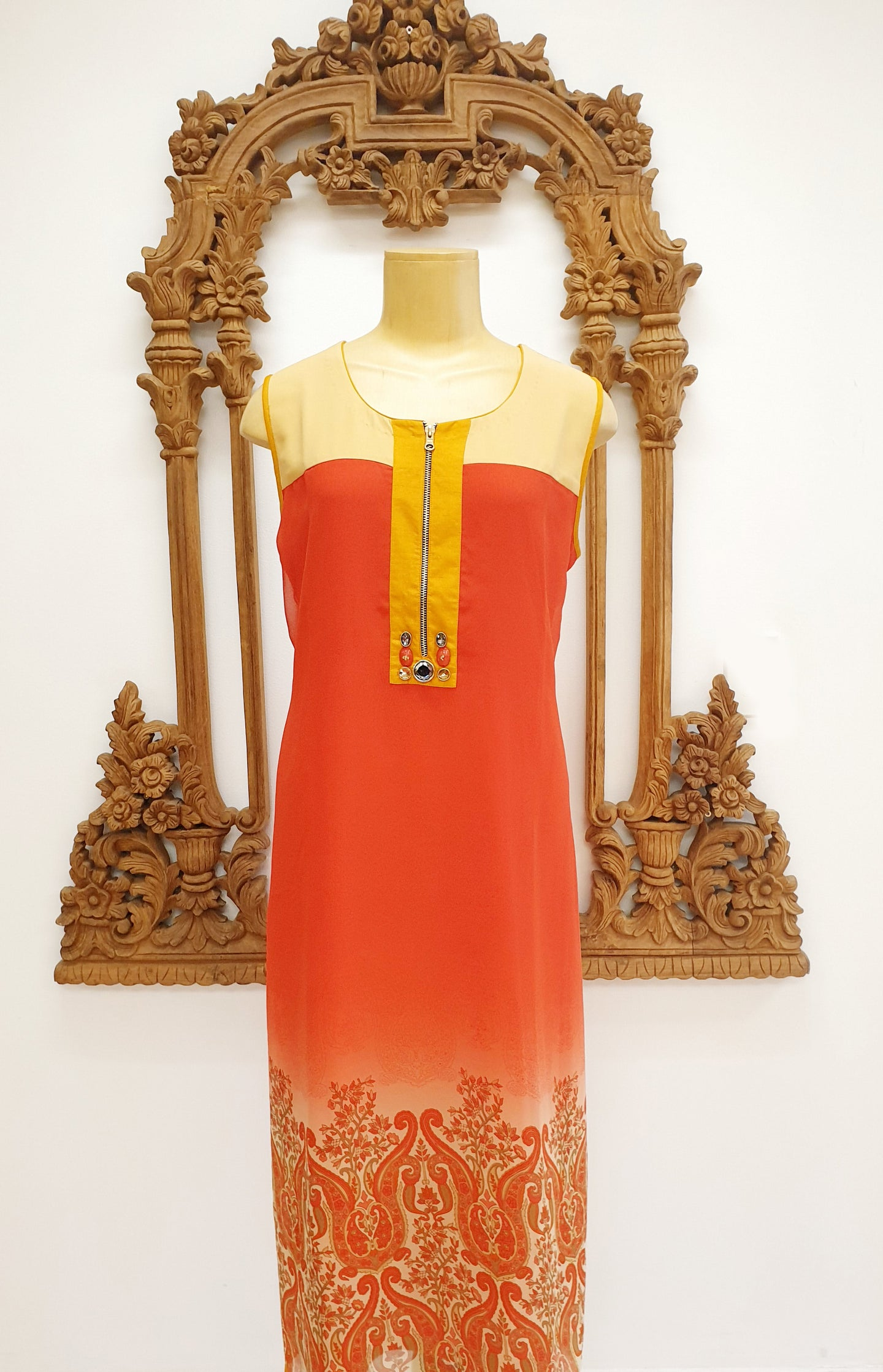 Orange Long Kurti