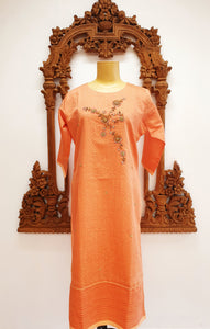 Dark Peach Long Kurti