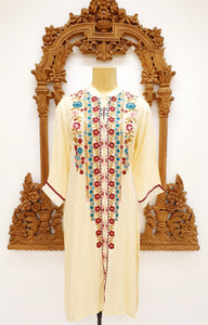 Cream Kurti with Embroidery